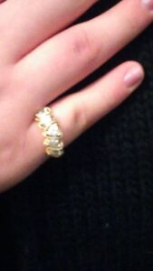 Gold and Diamond Ring SIze 7 $150