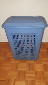 blue laundry hamper 13 x 19 x 25 high