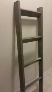 Handmade wood blanket/towel ladder