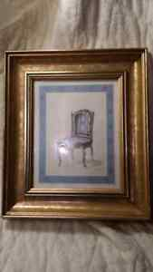 Picture of old Victorian blue chair