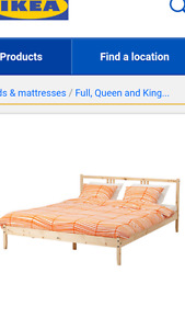 Double bed frame IKEA