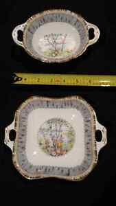 Royal Albert Silver Birch: Square and oval pickle dishes Edmonton Edmonton Area image 1
