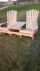 hand made cedar muskoka chairs from $109