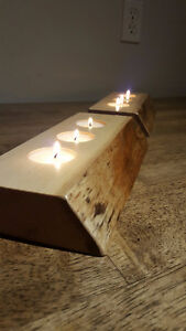 Hand Crafted Live Edge Tea Light Holders (Maple) London Ontario image 1