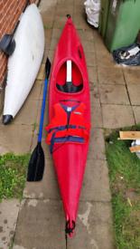 Perception mirage club plastic kayak bundle paddle and bouancy aid inc