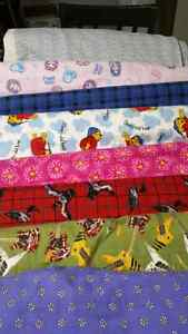 Flannel and other fabrics.  2.00 per metre. Prince George British Columbia image 1