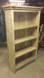Wormy white pine bookcase