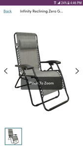 Looking for 2 lounging chairs great shape, must fold please inbo