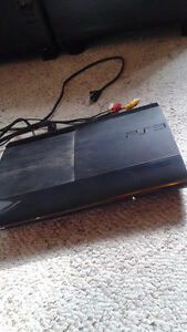 PS3 slim with cords and one controller
