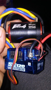 Brushless esc and motor