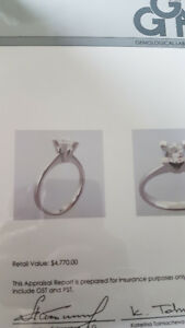 Engagement Ring - Appraised in Vancouver for $4,770