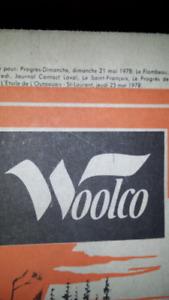 Decoupure de journaux années 70