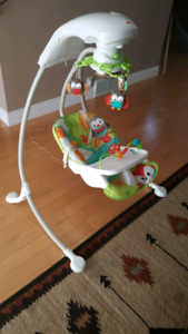 Baby swing with tray