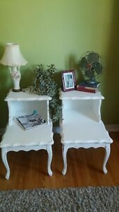 2 WHITE FRENCH PROVINCIAL TABLES !!!!!!!