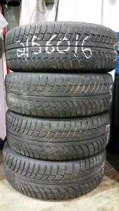 4 pneus hiver 215 60 16 gislaved