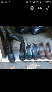 Size 7 heels shoes and almost new boots
