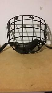 Grill de casque de hockey enfant