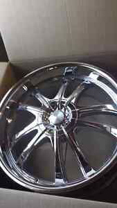 NEW 22INCH 5X114.3 5X120 CHROME RIMS