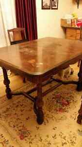 Antique Shelac Table and Chairs