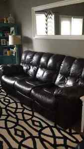 Ashley Leather recliner sofa and loveseat