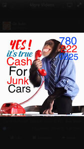 Scrap car removal & free tow 7802230825