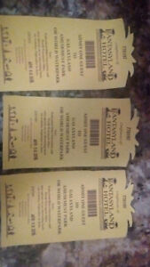 Galaxy land and or world water park tickets