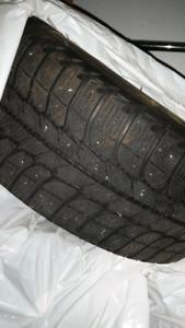 4 Michelin snow tires on rims