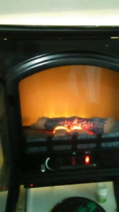 1500 BTU heater with fireplace flames