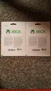 2 Xbox $100 Gift Cards $90 each or $150 for both Kitchener / Waterloo Kitchener Area image 2