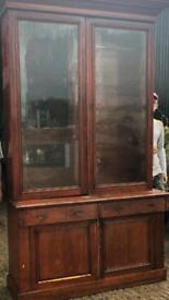 Large antique Georgian style bookcase