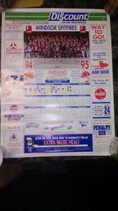1994-95 Windsor Spitfire Game Calendar Poster with Team Picture