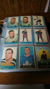 Binder of old hockey cards over five hundred