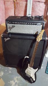 Electric guitar & Fender Stage 100 amp