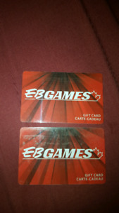 2 new 20 dollar EB games cards