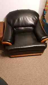 Leather couch and chair FS