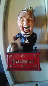 Cast iron bank   Ronald Reagan   banque en fonte