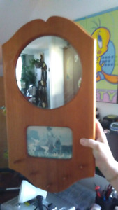 Porte clé photo miroir