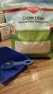 Critter litter, litter pan and mini scoop