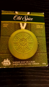 "Vintage ""Old Spice"" Shower ""Soap on a Rope""  Fresh Lime, Men"