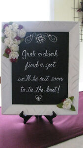 Wedding Runners and sign located in Truro.