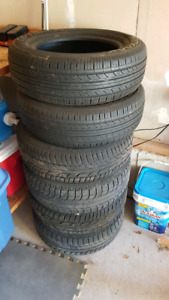 195/65R15 Four winter tires on rims + two all season tires
