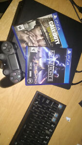 1tb ps4 slim with 2 games
