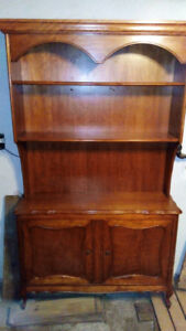Solid wood semi-antique french provincial book shelf