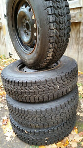 Firestone WinterForce Radials on Rims x 4 - REDUCED !