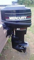 20HP Mercury Motor Boat and Trailer