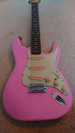 Hot Pink 1986 Korean Squier Stratocaster