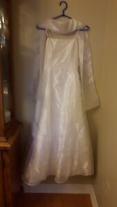 White Dress with small silver designs