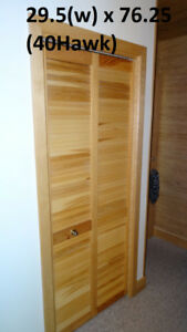 Door - 30(w) x 78 - Natural Birch, Bi-fold Louver Closet Door