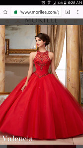 Beautiful Red Graduation Dress