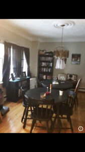 Black Kitchen Table + 3 Chairs